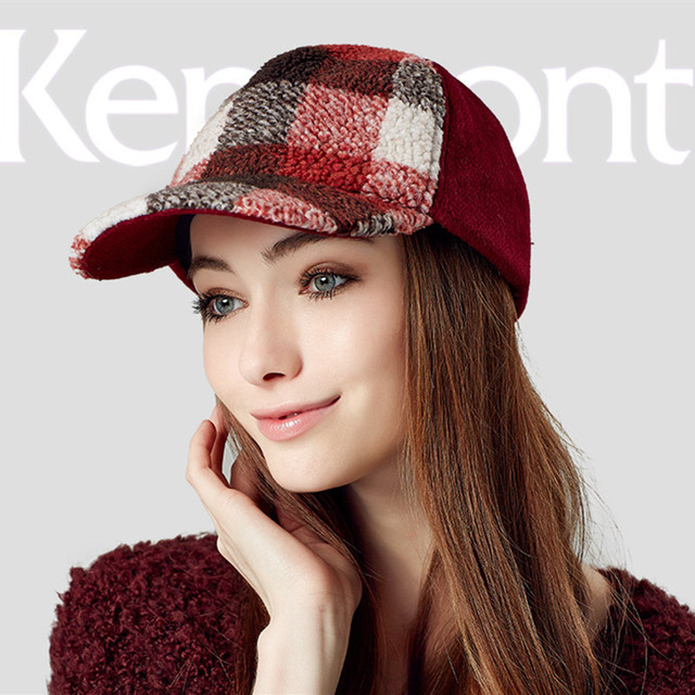 New Kenmont brand Spring Autumn Fashion Woolen Hat Patchwork Visor Snapback Baseball Caps Hip Hop Casquette Hats 2399