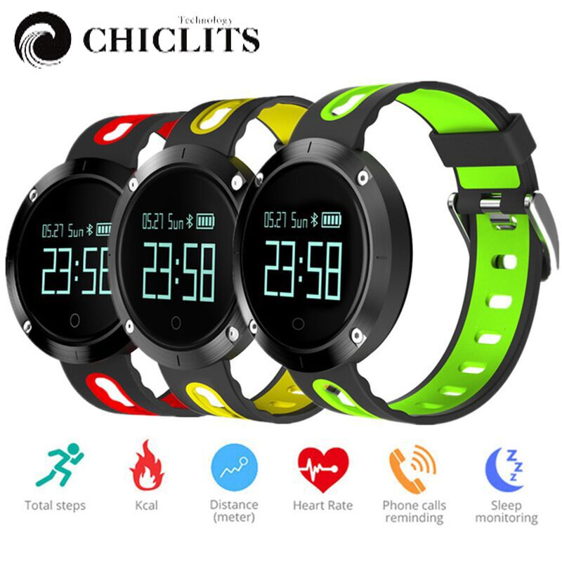 Chiclits DM58 Smart bracelet Watches Blood Pressure Activity Tracker Heart Rate Monitor Cardiaco IP68 Waterproof For
