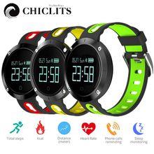 Chiclits DM58 умный Браслет Часы Приборы для измерения артериального давления трекер сердечного ритма Мониторы cardiaco IP68 Водонепроницаемый для IOS Android