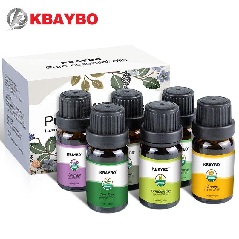 Aceites Esenciales aceite de aromaterapia para difusor de aroma humidificador 6 tipos fragancia de lavanda árbol de té Rosemary limón naranja