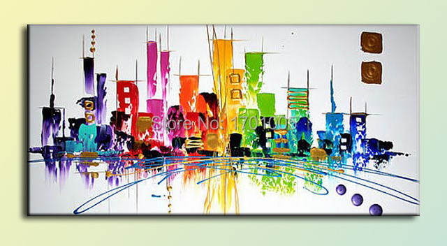 M0013 Abstract Landscape Painting Handmade Home Decoration Art Canvas Wall Art  Office Wall Painting Best Gift
