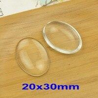 Ücretsiz kargo! 30 adet/paket 20x30/30x40mm temizle kubbeli büyütülmesi oval cam cabochons, fotoğraf takı kolye ekler