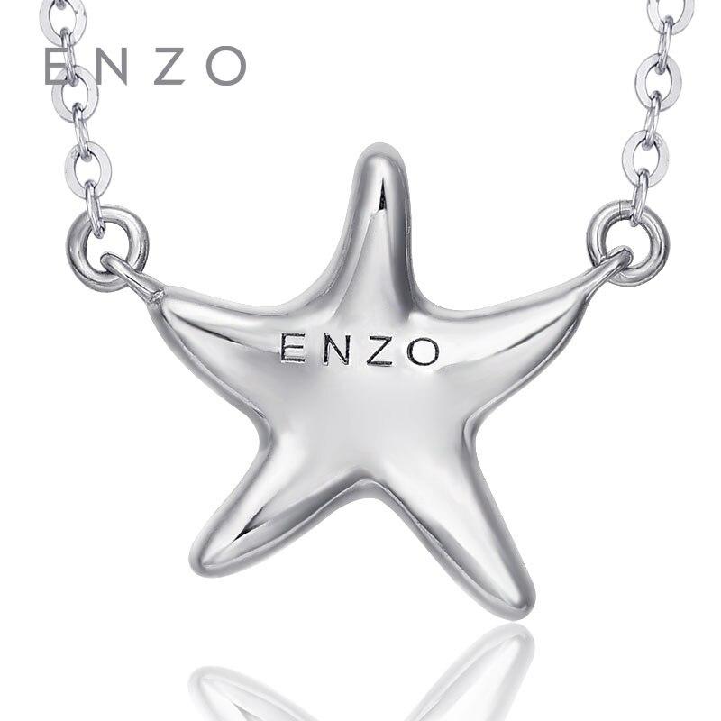 246d4e46fabf ENZO Starfish forma collar con Topacio Azul y diamantes 18 K oro blanco  Natural piedras preciosas diseño especial colgante de joyería fina en  Collares de ...