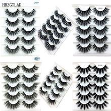 Новинка, 23 стиля, 5 пар, 6D, накладные ресницы из норки, натуральные/толстые длинные ресницы для глаз, блестящий макияж, инструмент для наращивания красоты