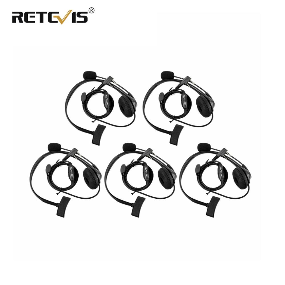 5pcs 2Pin PTT MIC Headset Sponge Earpad Earpiece For Kenwood For Baofeng UV-5R BF-888S UV82 RETEVIS H777 RT5 RT7 RT21 Ham Radio