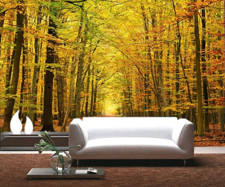 цена wall stickers art Large 3d three-dimensional mural paper tv background wallpaper modern brief gold tree non-woven  home decor онлайн в 2017 году