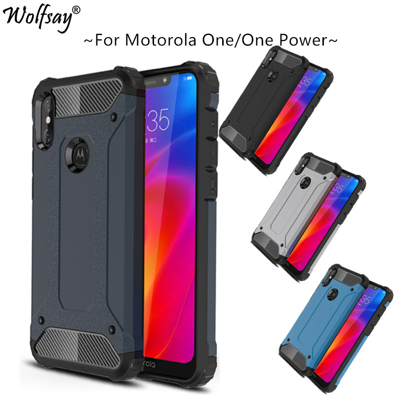 Fitted Case sFor Motorola Moto One Power Case 6.2 TPU + PC Shockproof Hybrid Armor Full Cover For Moto One Power/P30 Note XT1942