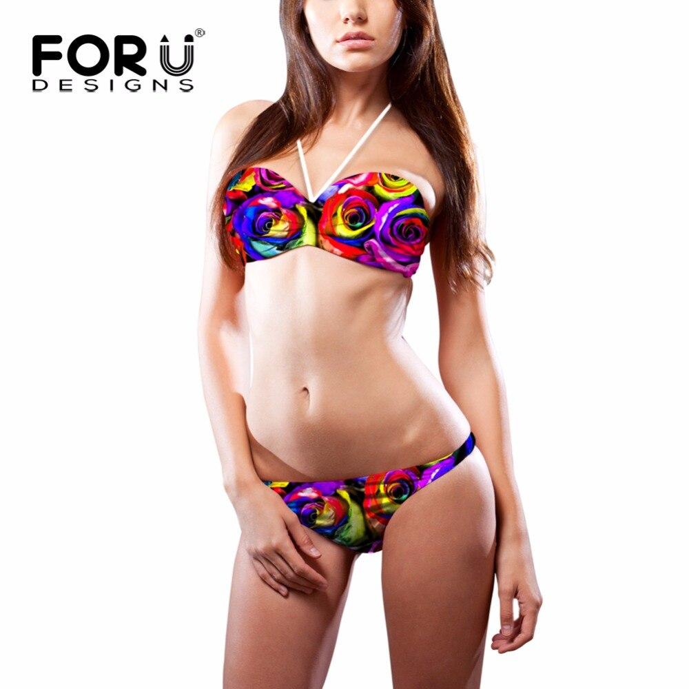 forudesigns rose super push up sexy girls bikini summer. Black Bedroom Furniture Sets. Home Design Ideas