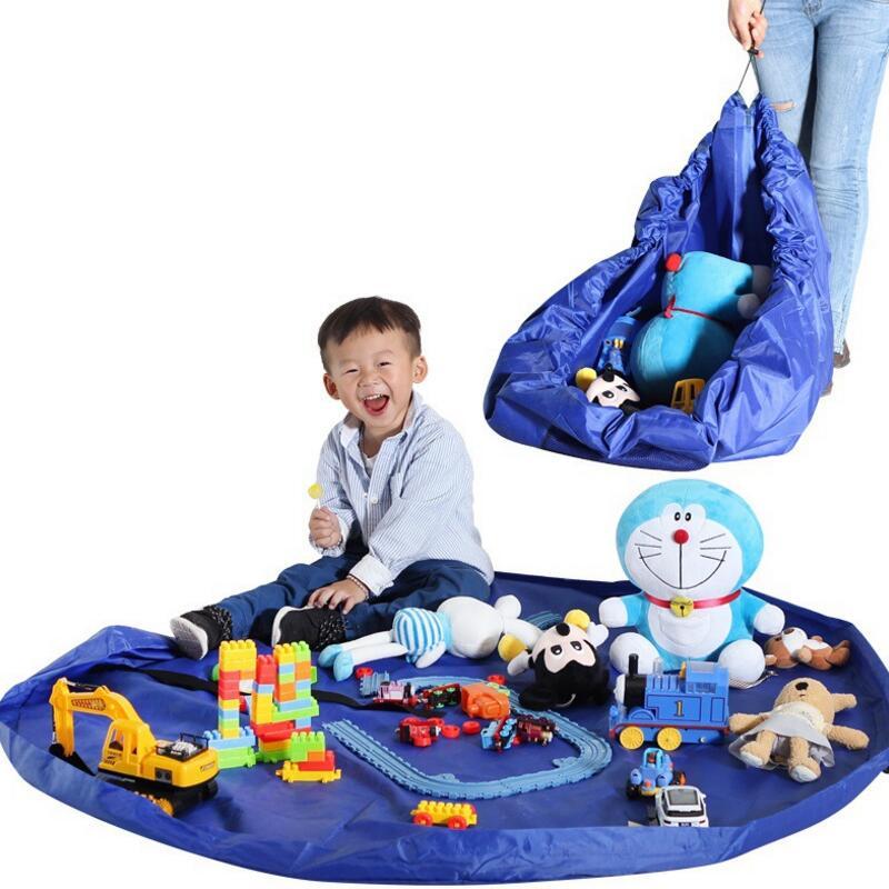 1 pcs Portable Kids Toy Storage Bag and Play Mat Organizer Bin Box Fashion Practical waterproof Storage Box AU470