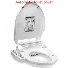 Умное сиденье на унитаз с подогревом горячая вода Туалет ситец интеллигентая(ый) автоматическая крышка туалета крышка электрическое биде крышка Нет резервуар для воды AC220V