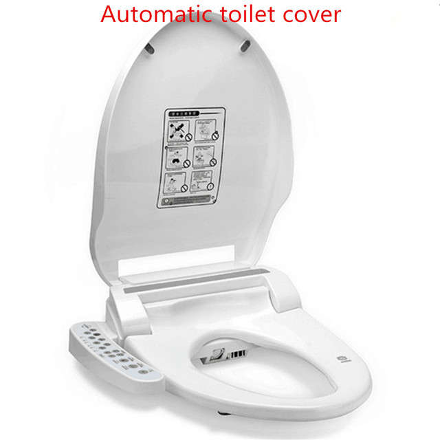 toilet seat no lid. Smart Heated Toilet Seat Instant Hot WC Sitz Intelligent Automatic  Lid Cover Electric Bidet