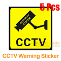 5Pcs/lot Waterproof CCTV Warning Sticker for CCTV Security Camera Surveillance Video Warning Decal Signs (Free Shipping)