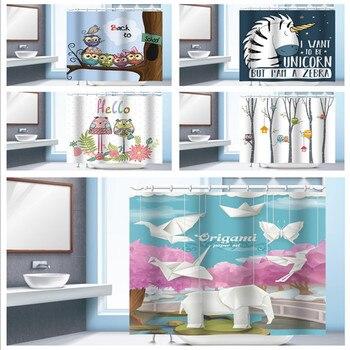 Classic Modern OWL Elephant Thick Waterproof PEVA Shower Curtain Bathroom Curtain with Hooks zwbra shower curtain