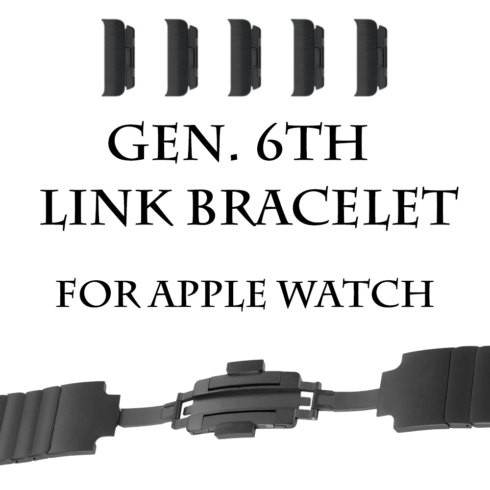 Hight Quality Double Button Folding Clasp for Apple Watch Replacement Stainless Steel Band For iwatch 38 or 40mm 42 or 44mm