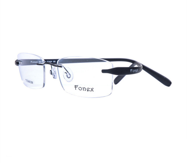 Women and Men Prescription Frame Quality TR 90 Temple Rimless Glasses Frame