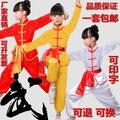 Rendimiento Wushu Wushu uniforme al por mayor niños de Los Niños de manga larga de manga corta ropa de los estudiantes de kindergarten ropa Taiji