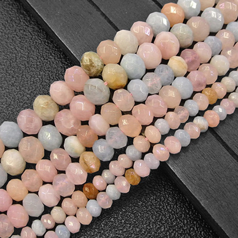 "Rondelle Heishi Spacer Morgan Beads Natural Stone Beads For Jewelry Making Beads Bracelets 15"" Needlework DIY Beads Trinket"