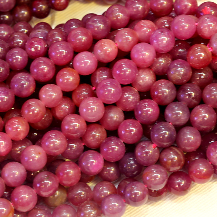 Natural Genuine High Quality Red Ruby Round Loose Stone Beads 3-18mm Fit Jewelry DIY Necklaces Or Bracelets 15