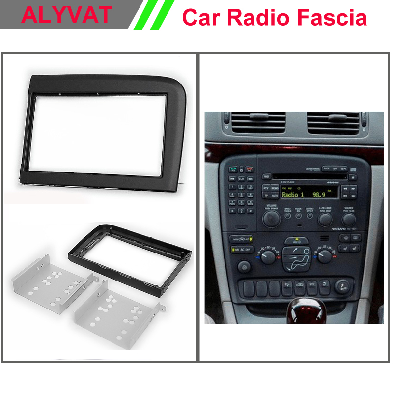 Car Stereo Radio Fascia Plate Panel Frame Kit For VOLVO S60 XC70 Stereo facia surround install trim fit Dash Kit car radio dvd fascia frame installation dash mount kit stereo install for mitsubishi mirage 2012 space star 2013