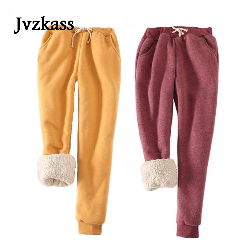 Jvzkass 2019 New High Quality Women's Winter Pants Baggy Thicken Warm Casual Women Pants Thermal Female Sweatpants Trousers Z10