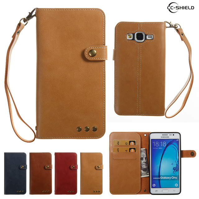 Case for Samsung Galaxy On5 G550T G550T1 Bracket Flip Wallet Card Slot PU leather case for Samsung On 5 SM-G550T SM-G550T1 capa