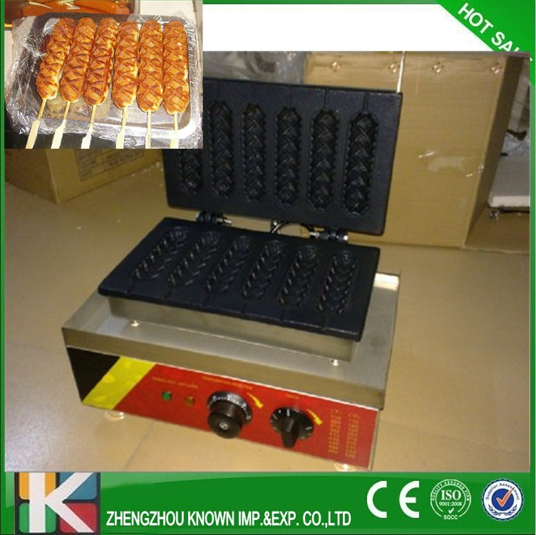6 pcs /time Muffin corn machine,Waffle corn Baker,corn hot dog machine