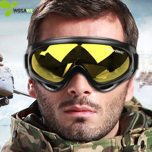 UV Protection Super Sports Ski Snowboard Skate Goggles Glasses Outdoor Motorcycle Off-Road Ski Goggle Glasses Eyewear Lens  polisi polarized uv protection ski goggles double layer snow glasses eyewear outdoor gafas motocross off road goggles