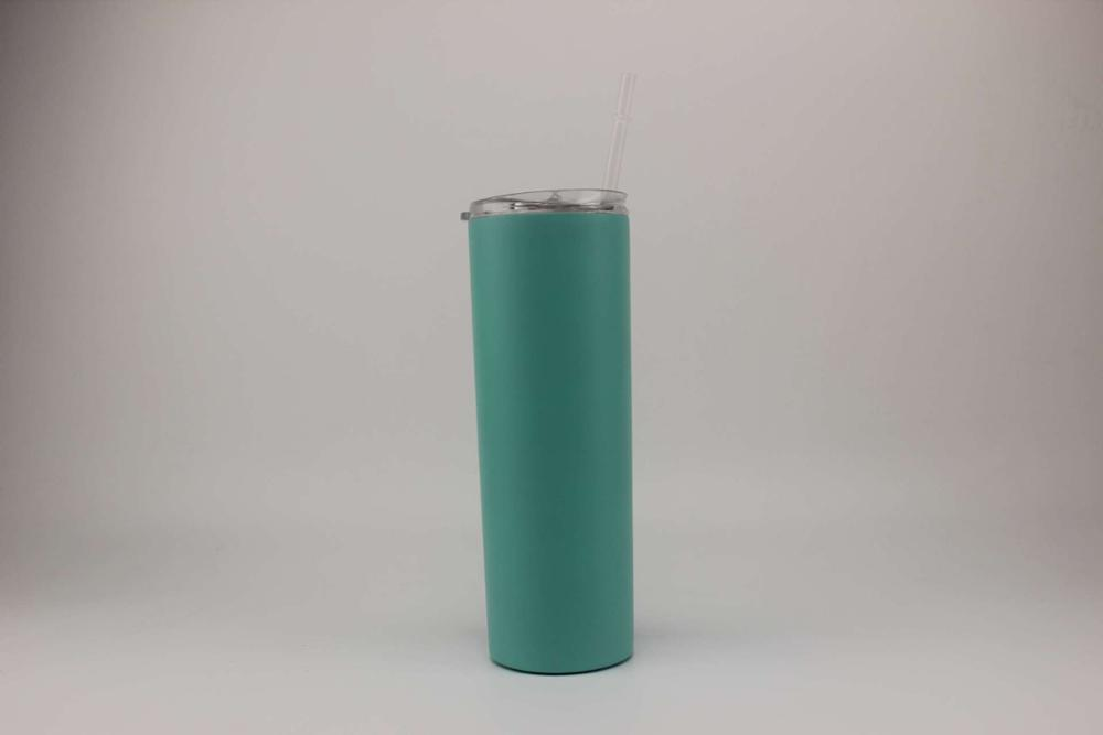 10pcs/lot 20oz Stainless Steel Skinny Tumbler with Lid and Straw Double  Wall Vacuum Insulated straight tumbler