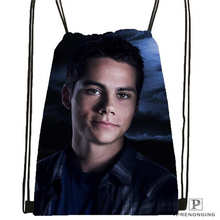 Custom Dylan O'brien @01- Drawstring Backpack Bag Cute Daypack Kids Satchel (Black Back) 31x40cm#180611-01-26