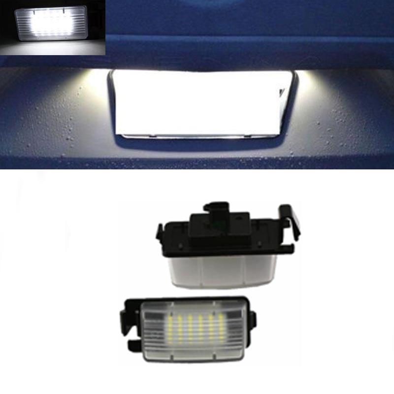 HOPSTYLING Car styling No Error 2x LED License plate light For Infinit* G35 G37 auto accessory replacement tail number lamp 1 pair error free led license plate light for jaguar xf x250 xj x351 auto rear number plate lamps car styling replacement