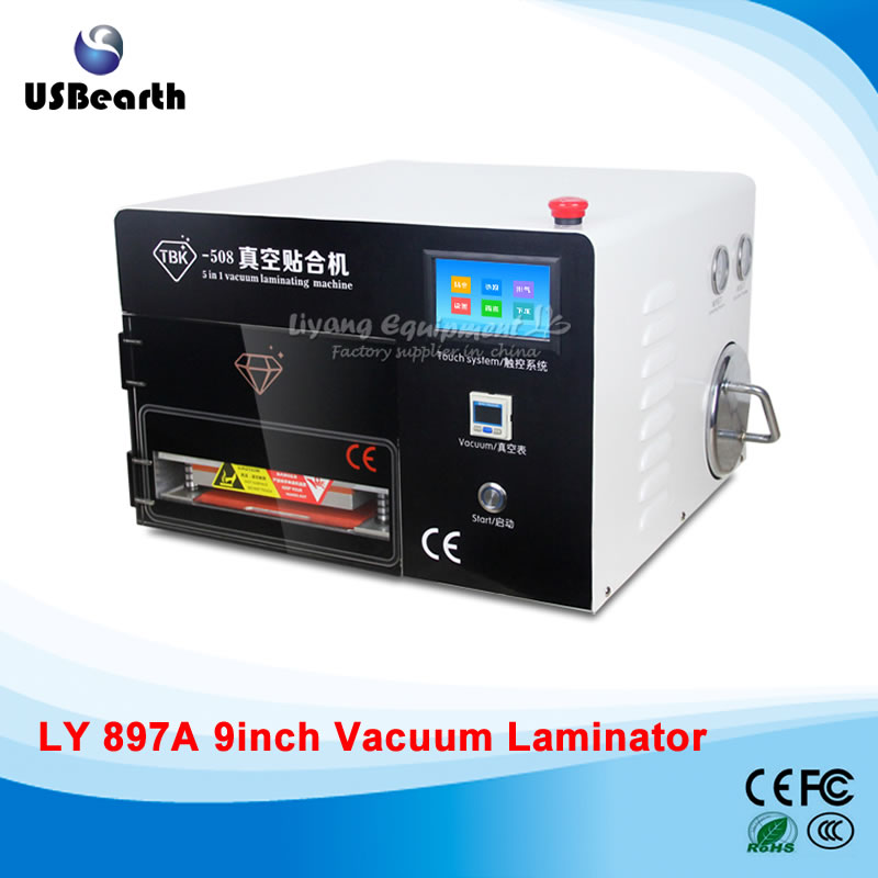 LY 897A OCA lamination machine touch screen vacuum with Built-in Air Compressor,defoam machine for 9 inch,free tax to EU феникс презент декоративная копилка печатная машинка феникс презент