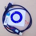 Programação cabo USB para motorola gm3188, Gm3688, Gm338, Gm300, Gm950 etc rádios de veículo com driver de CD 8 pins
