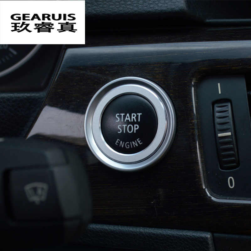 6ae584243d54 ... Car styling Aluminum Alloy Engine Start Stop Ring Trim Ignition Key Ring  for BMW E90 E92 ...