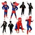 Горячая Cool Kids Дети Мальчики Детские Фестивали Хеллоуин Костюм Одежда Set Superhero Косплей-Шоу Человек-Паук Супермен Бэтмен Зорро