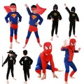 Cool Kids Niños Niños Bebé caliente Sistema de la Ropa Del Traje de Halloween Superhero Festivales Espectáculo Cosplay Superman Spiderman Batman Zorro