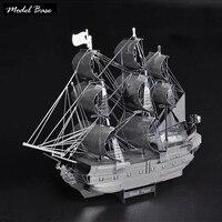 3D Головоломки Для Взрослых Ручной Металл Пазлы Обучающие Дети Игры Нано-Собраны 3d Модель Diy Пиратский Корабль Черная Жемчужина ремесла