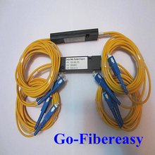 2 unids/lote FTTH Divisor PLC 2×2 Módulo de la Caja Óptica Acoplador SC/UPC Conector 1.5 metros
