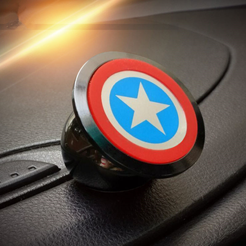 High quality Captain America car phone holder degrees Magnetic Phone Car Mount