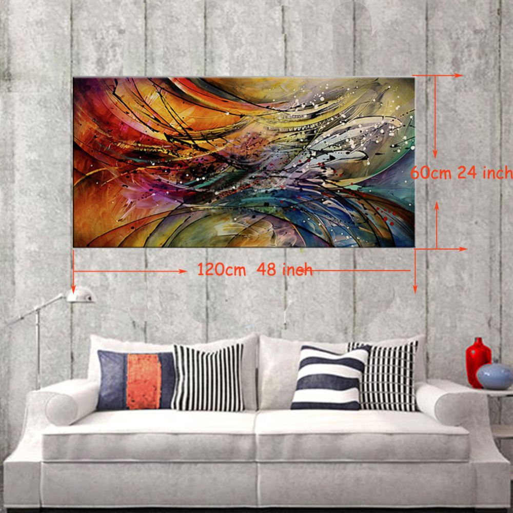 Oil Painting For Living Room Aliexpresscom Buy Iarts Hand Painted Unframed Oil Painting