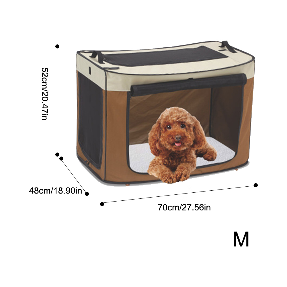 2 Sizes Portable Pet Cat Dog House Cage Folding Dog Outdoor Bed Tent Breathable Big Space Kennel For Small Medium Dogs Grade Products According To Quality Dog Doors, Houses & Furniture