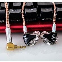 CTZ 2BA/3BA/5BA Resina Armadura Do Fone De Ouvido Intra-auriculares Driver Unidades HiFi Fone de Ouvido, MMCX Conectores Do Cabo de Metal para O Iphone 5 6 7 8 Xiaomi