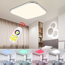 LED Ceiling Lamp rgb Dimmable Multiple Color Modern LED Light 24W 36W 48W 64W 96W Home foyer bedroom kitchen Remote Control modern square fashion simple remote control led ceiling lamp indoor light 48w 72w for bedroom study dining room foyer hotel etc