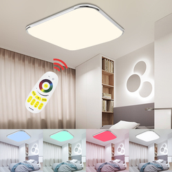 LED Ceiling Lamp rgb Dimmable Multiple Color Modern LED Light 24W 36W 48W 64W 96W Home foyer bedroom kitchen Remote Control
