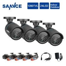 SANNCE AHD 720P CCTV Security Cameras 4pcs1.0MP 1280tvl outdoor Video Surveillance cameras in CCTV System with IR night vision