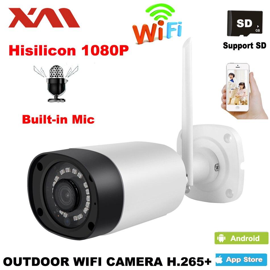 HD Outdoor WIFI IP Camera  waterproof 1080P Security Surveillance System 2.0MP Voice intercom Wireless Video Surveillance CameraHD Outdoor WIFI IP Camera  waterproof 1080P Security Surveillance System 2.0MP Voice intercom Wireless Video Surveillance Camera