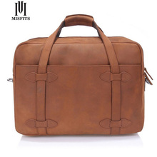 MISFITS  Men Travel Bags Genuine leather Man Suitcase Waterproof Bag Vintage Crazy Horse Leather Man Leather Luggage Bag WHB75