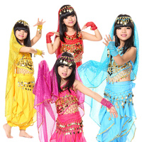 Belly Dancing Clothes Sari Belly Dance Costume 4 Piece Suit Dance Clothing Set Indian Dress
