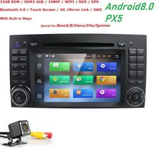 2din Android8.0 CarDVD gps Штатная для Mercedes Benz B200 A B класс W169 W245 Viano Vito W639 Sprinter W906 4G Bluetooth радио(China)