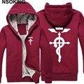 Winter Jackets and Coat Fullmetal Alchemist hoodie Anime Thicken Warm Men Sweatshirts