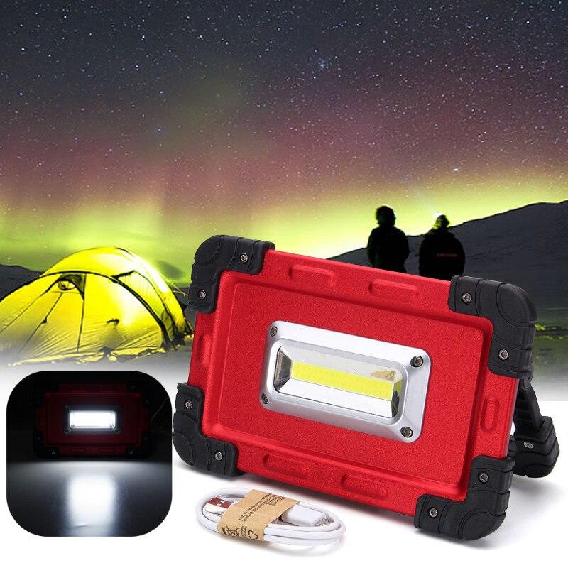 30 Watt USB COB 32 LED Scheinwerfer Tragbare Wiederaufladbare LED Flutlicht Arbeit Zelt Im Freien Lampe DC3.7V